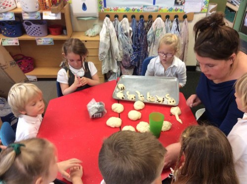 We then put our creations on a tray ready to be baked.